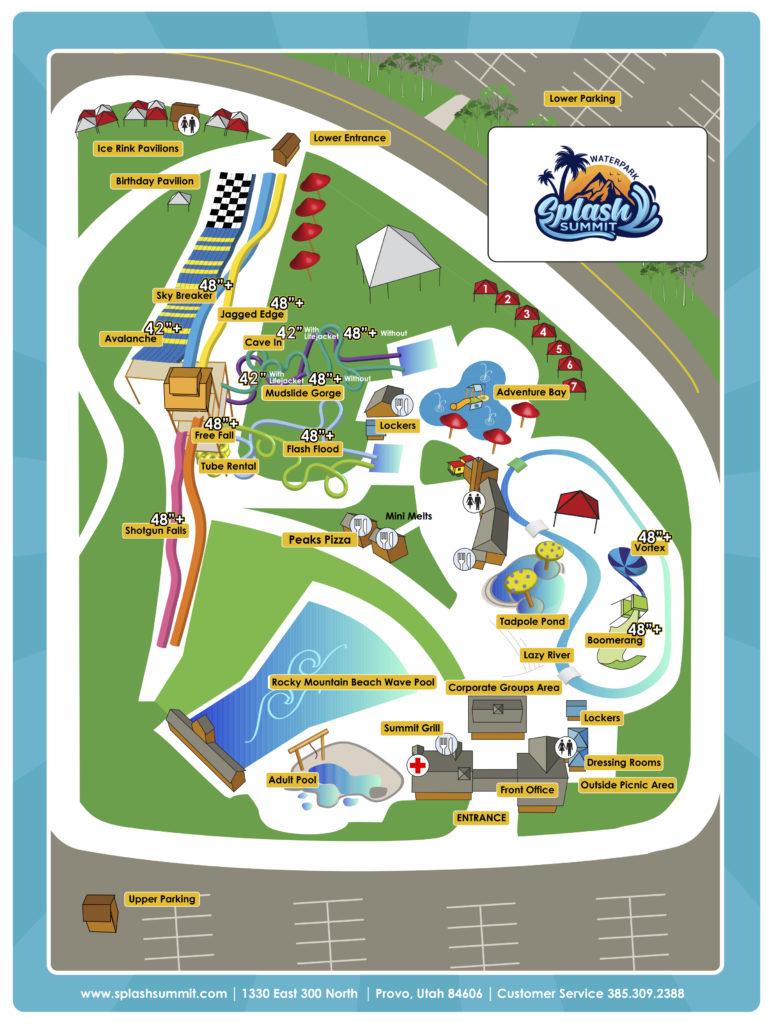 Splash Summit Park Map 2020